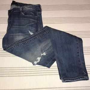 F21 stretchy distressed jeans